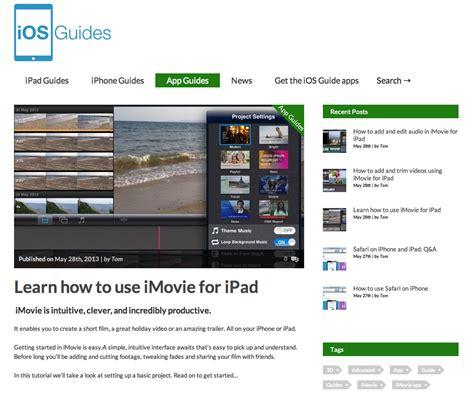 tutorial imovie ios 8 ios guides introduces imovie tutorials
