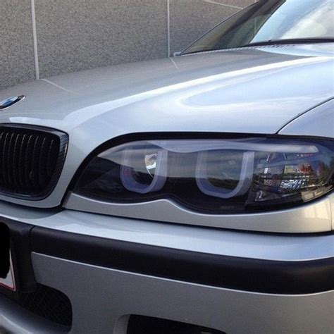 headlights bmw 325i spyder black projector led 3dhalo headlights for 2002 2005