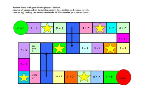 printable number games ks1 skittle addition number bonds to 10 by john shaw