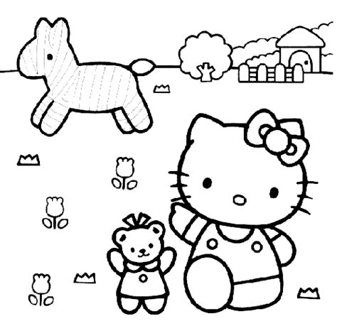 hello kitty zebra coloring page hello kitty and a zebra coloring page