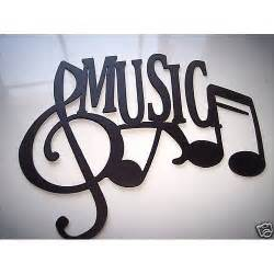 Music Wall Decor by Music Word With Notes Metal Wall Art Music By