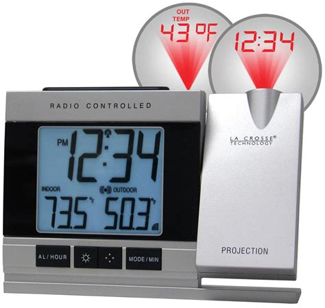 projection alarm clock led atomic indoor outdoor