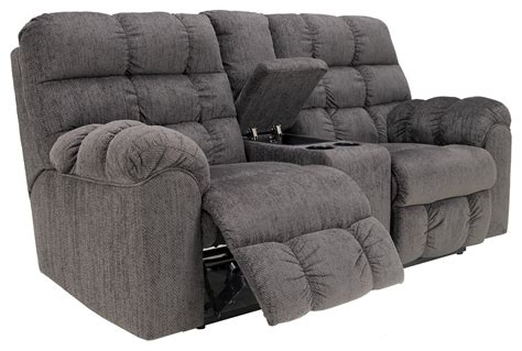 double recliner with cup holders double reclining loveseat with console and cup holders by