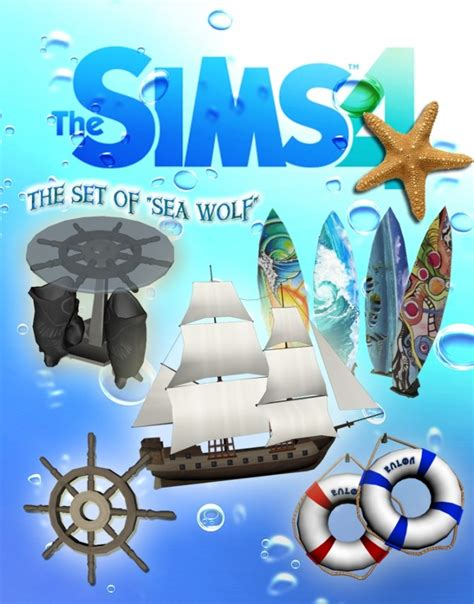 The marine set of quot sea wolf quot by stanislav at mod the sims 187 sims 4 updates