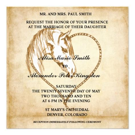 western wedding invitations templates western wedding invitations announcements 5 25