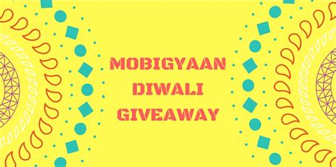 Mobile Home Giveaway On Facebook - mobigyaan diwali giveaway win mobile recharges