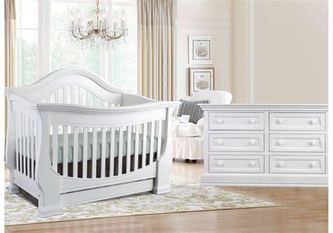 Baby Appleseed Davenport Convertible Crib In Pure White Davenport Convertible Crib