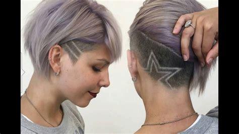 fotos de cortes de pelo de la nuca corte de pelo mujer nuca rapada con dibujos 2019 youtube