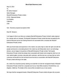 Letter Of Interest Template Microsoft Word by Business Letter Template 43 Free Word Pdf Documents