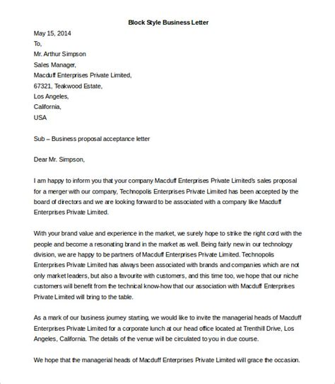 business letter format templates sample