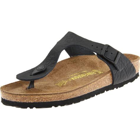 gizeh sandal birkenstock womens gizeh sandal in black cortina