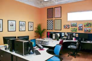 commercial office paint color ideas entrancing design ideas of office interior with wooden work desks and dividers also combine