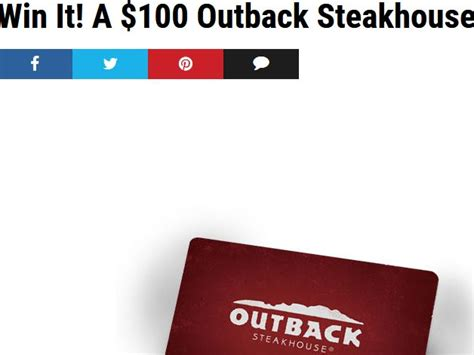 Outback Steakhouse Gift Card Special - extra outback steakhouse gift card sweepstakes