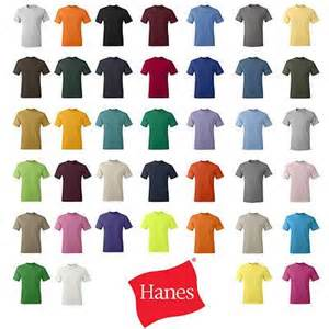 hanes colored t shirts 100 hanes tagless 5250 t shirts 6 oz blanks plain lot ad