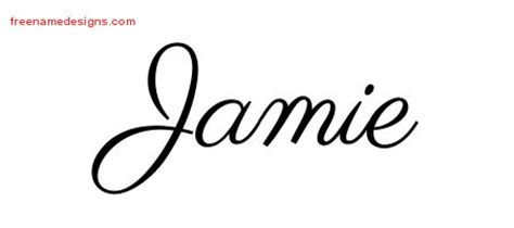 jamie archives free name designs