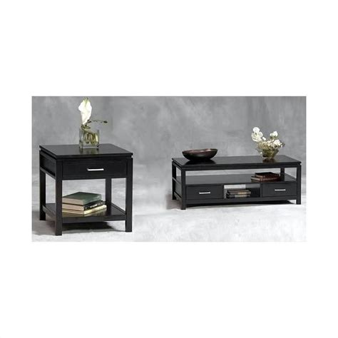 Black Coffee Table Sets Linon Sutton Black End Coffee Table Set Ebay