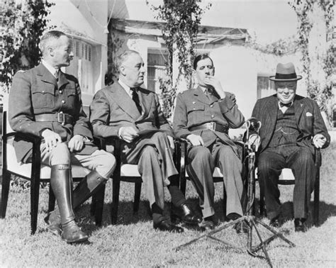 casablanca conference 1943 churchill and roosevelt get together at the