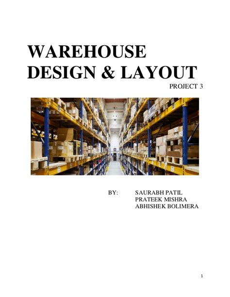 warehouse layout slideshare final group project