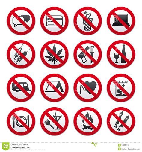 imagenes simbolos visuales jogo de sinais proibidos ilustra 231 227 o do vetor imagem de