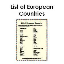 list european countries social studies pdf study guide