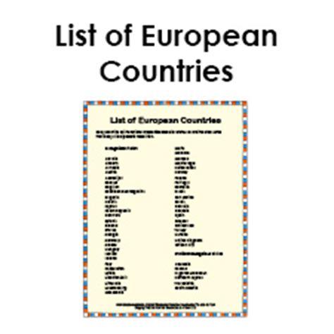 List Of - list of european countries social studies pdf study guide