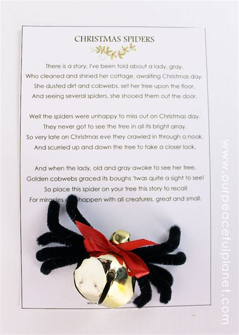 printable version christmas spider the christmas spider diy free poem printable our