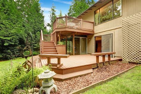 two level backyard landscaping ideas 27 extensive multi level decks for entertaining large parties