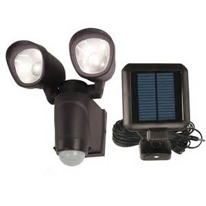 Motion Sensor Flood Light Shop Utilitech 110 Degree 2 Head Black Solar Powered Led