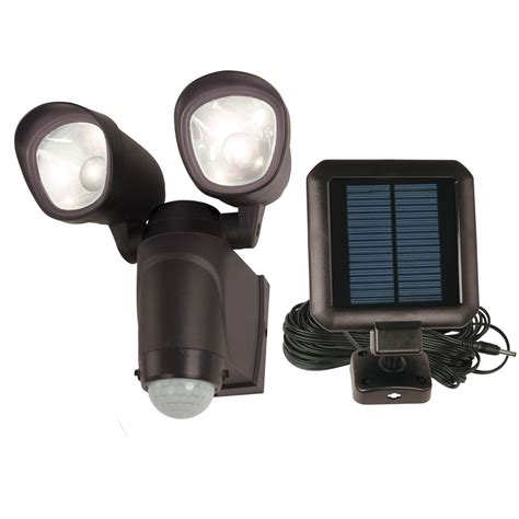 solar powered motion activated flood lights shop utilitech 110 degree 2 black solar powered led
