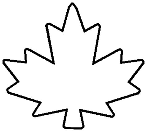 Canada Maple Leaf Outline by Canadian Maple Leaf Outline Clipart Best