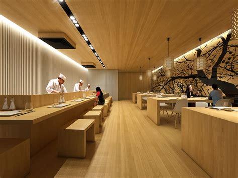Sushi Interior Design by Minimal Sushi Restaurant Martim Sousa E Melo