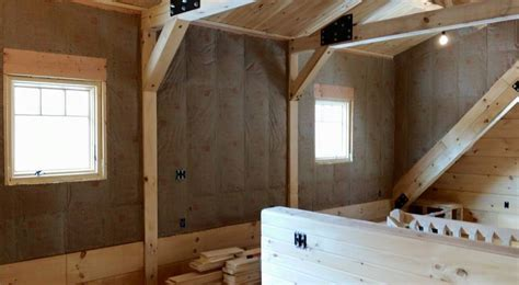 Pole Barn Home Interior interior wall coverings log home under construction