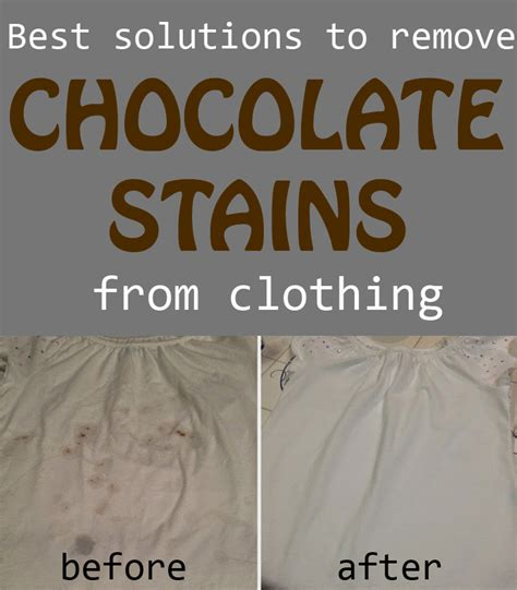 best solutions to remove chocolate stains from clothing cleaning ideas com