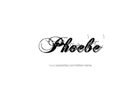 phoebe tattoo designs design name phoebe 26 png