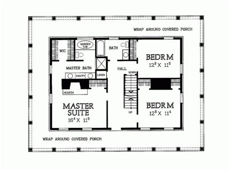 Eplans Country House Plan Two Levels Of Wraparound   unique 2 bedroom house plans wrap around porch new home
