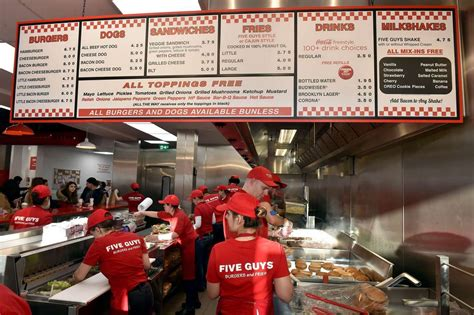 five square imagery five guys opens in liverpool liverpool echo