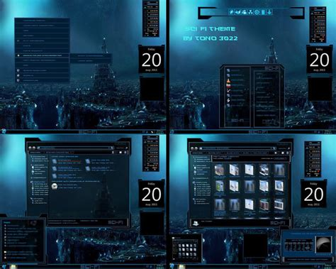 new themes of windows 7 new windows 7 theme sci fi by newthemes on deviantart