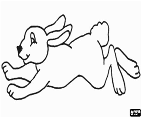 running rabbit coloring page rabbits bunnies coloring pages printable games 2
