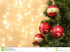 closeup of christmas tree decorations stock image image