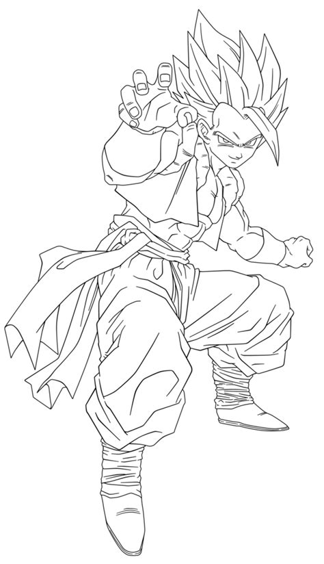 ssj4 gogeta coloring pages coloring home