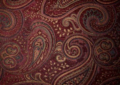 red gold upholstery fabric rich dark red gold paisley upholstery fabric woven by