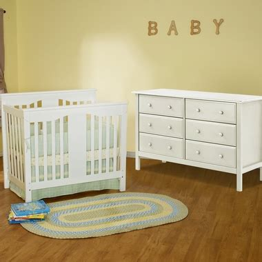 Annabelle Mini Crib White Davinci 2 Nursery Set Annabelle Mini Convertible Crib And 6 Drawer Dresser In