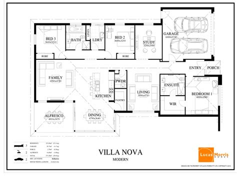 floor plans for homes one story single story modern architecture modern single story house