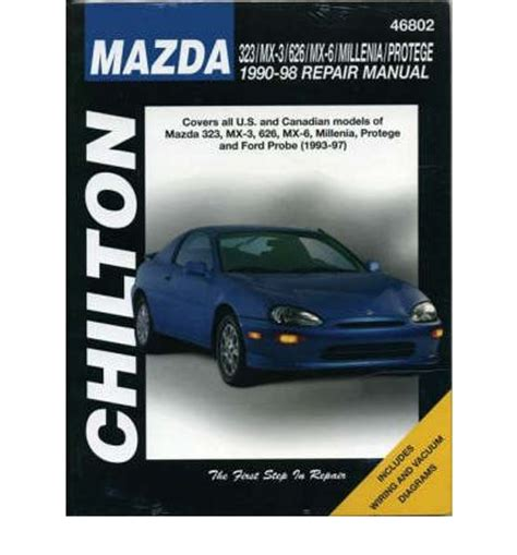 mazda 323 626 mx 3 mx5 and mx 6 1990 98 ford probe 1994 97 sagin workshop car manuals
