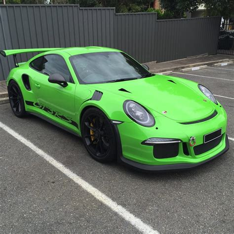 porsche gt3 green techart porsche 991 gt3 rs looks in green