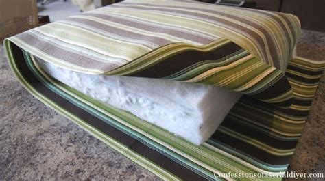 diy bench cushion cover diy cushions for patio furniture super easy i didn t