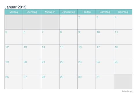 Kalender 2015 Drucken Kalender Januar 2015 Zum Ausdrucken Ikalender Org