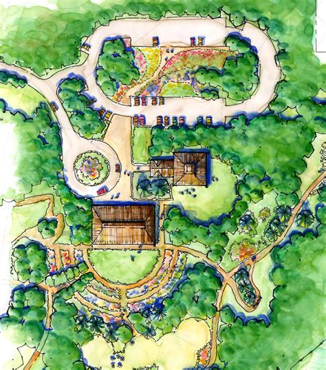 alaska botanical garden master plan  brown design