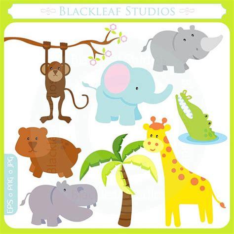 safari jungle baby animal clip art cute baby safari animals jungle mod animals noahs ark