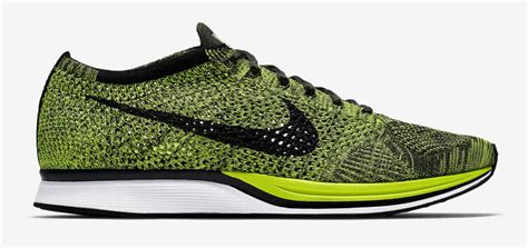 Nike Flyknit Racer Green Neon nike flyknit racer volt black 2016 sole collector